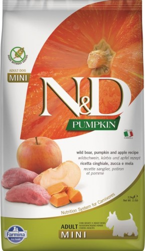 N&D Dog GF Pumpkin Wild Boar & Apple Adult Mini